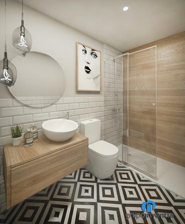 Baño 3D para calle Calderón de Barcelona