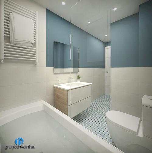 Cuarto de baño infantil para proyecto en Diagonal de Barcelona