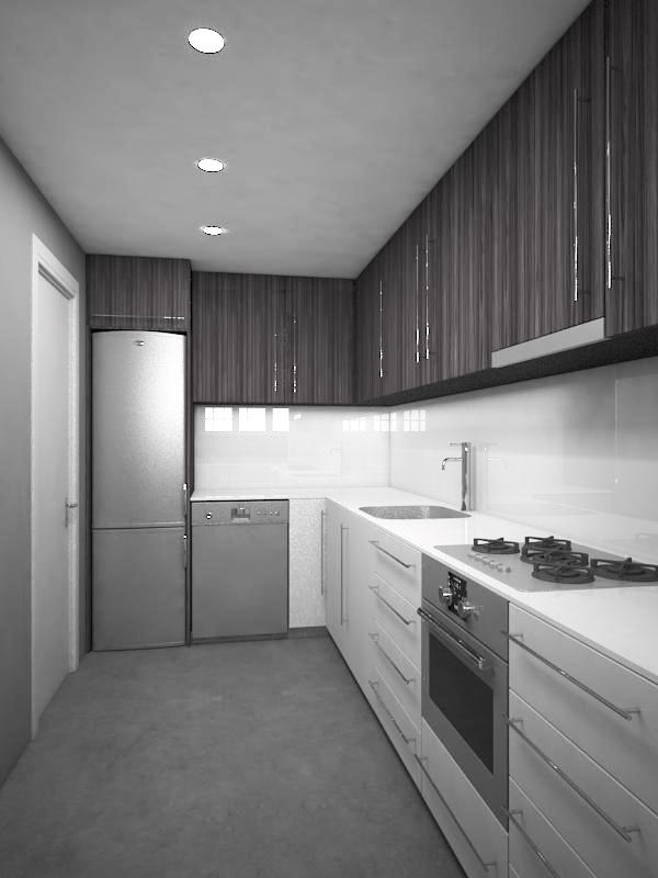 Proyecto 3D cocina en pantà de Tremp