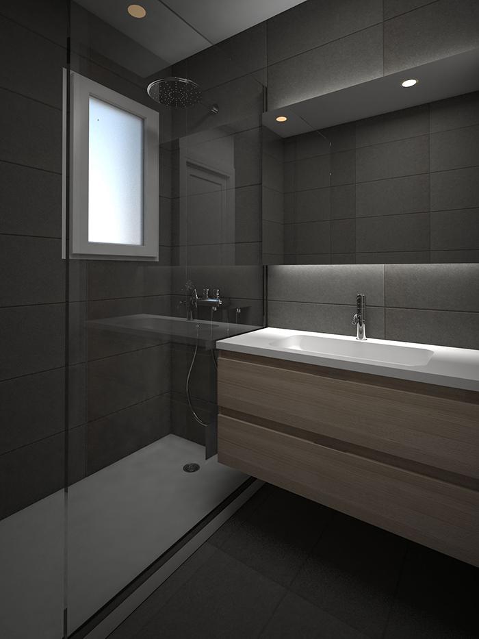 Baño 3D para calle Diputació