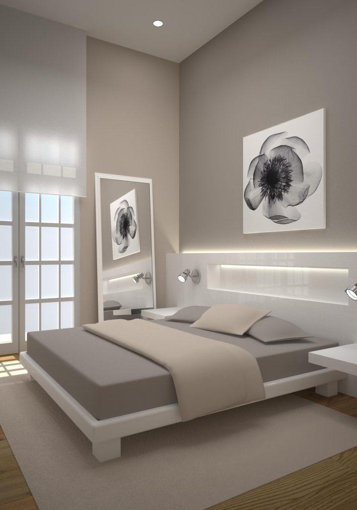 Render 3D dormitorio en Londres