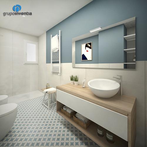 Proyecto de reforma de baño suite en Diagonal de Barcelona