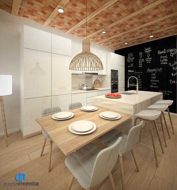 Proyecto de reforma de cocina en calle Calderón de Barcelona