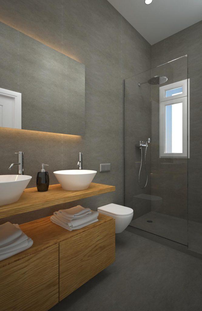 Proyecto de baño 3D en Londres