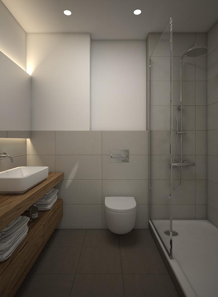 Proyecto 3D de reforma de baño en Sabadell