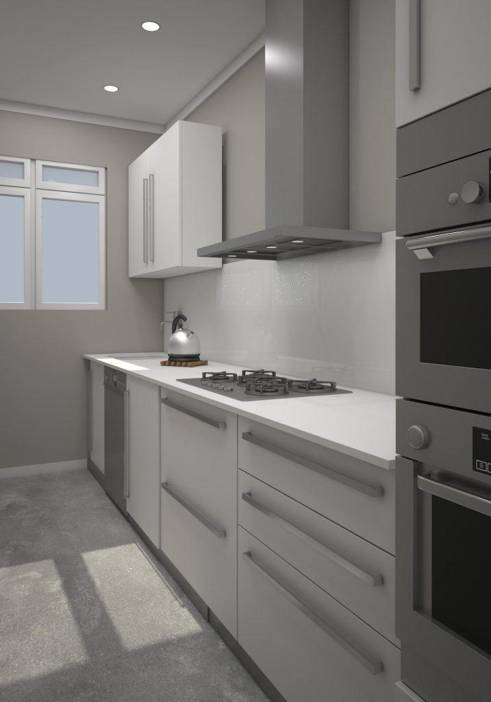 Render 3D cocina en Maladeta