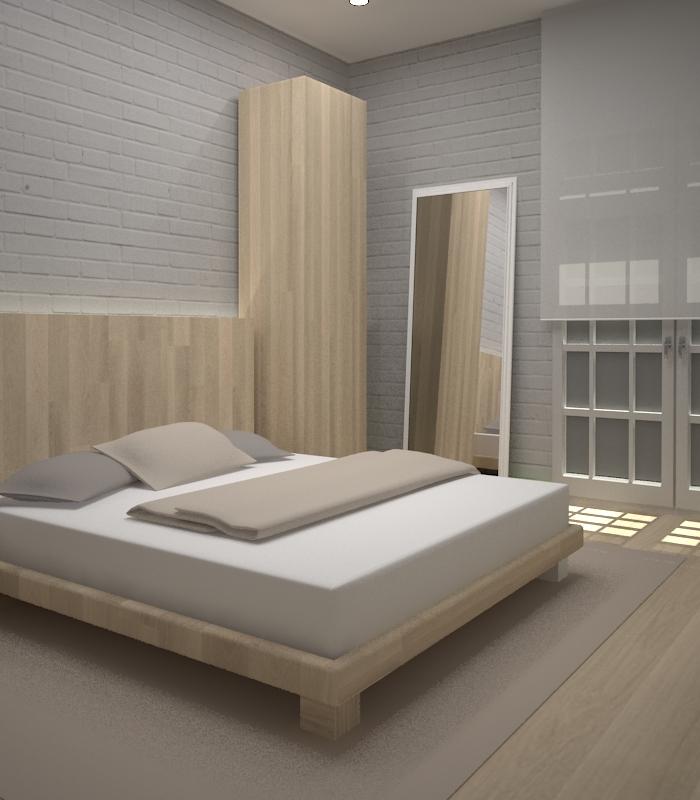 Proyecto 3D dormitorio en Diputació