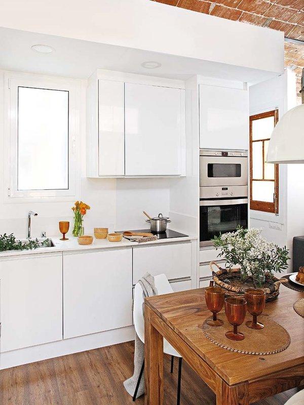 Distribuci n lineal ideal para cocinas abiertas al sal n - Distribucion cocina ...
