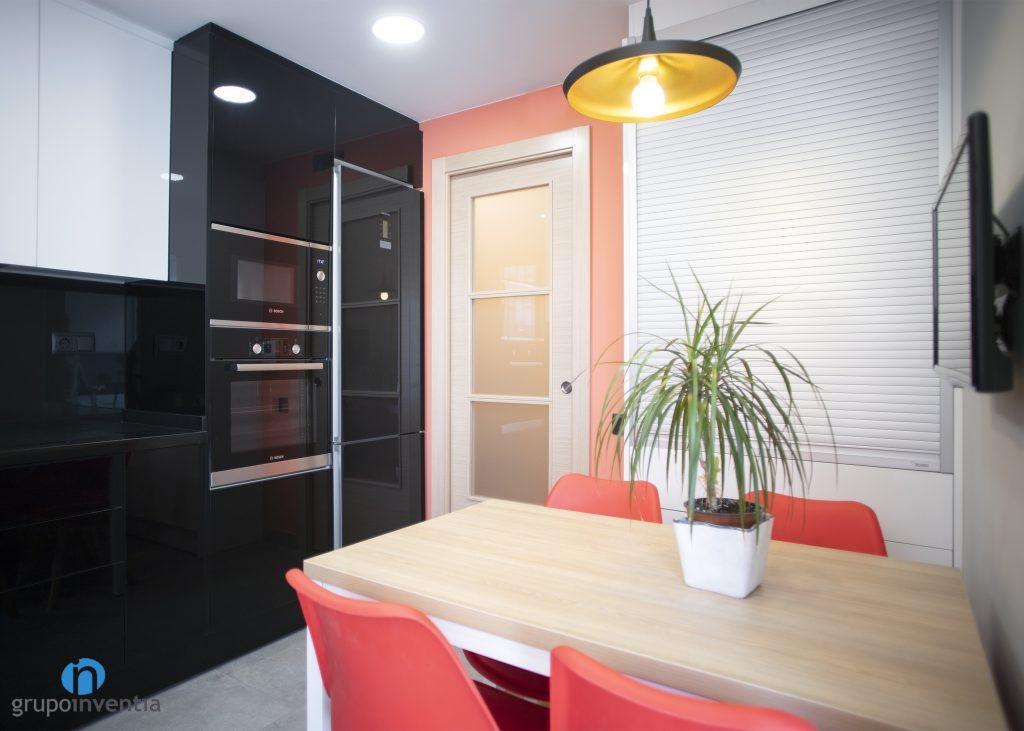 Cocina con zona office