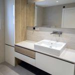 acabados en madera baño