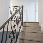 barandilla de acero escalera