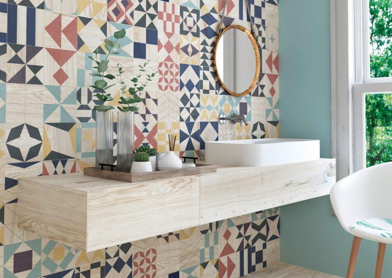 azulejos hidráulicos baño