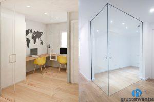 despacho puertas correderas cristal