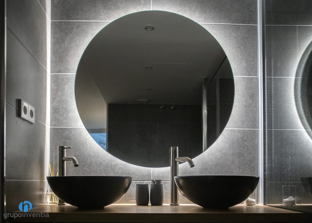 espejo baño redondo
