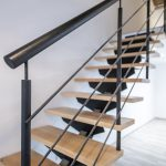 escalera hierro madera
